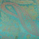 Seiden-Schal Paisley blue atoll