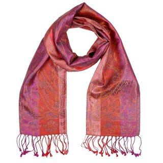 Seiden-Schal Paisley paradise pink