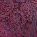 Seiden-Schal Paisley red plum