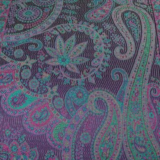 Seiden-Schal Paisley magic purple