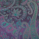 Seiden-Schal Paisley magic purple