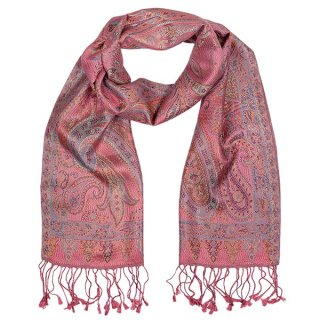 Seiden-Schal Paisley rose blossom