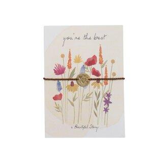 "Schmuck-Postkarte ""Flower Field"""