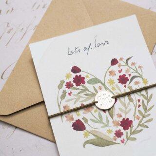 "Schmuck-Postkarte ""Floral"""