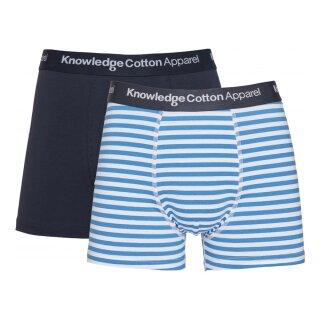 Herren-Pants Maple gestreift Doppelpack Bright White