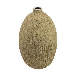 Keramik-Vase GUGU hoch L spotted olive