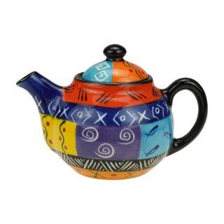 Keramik-Teekanne bunt, 400ml