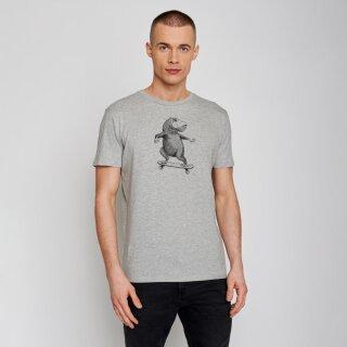 Herren T-Shirt Animal Capy heather grey
