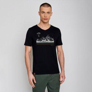 Herren T-Shirt Bike Fly black