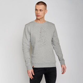 Herren Sweatshirt Nature Lone heather grey