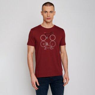 Herren T-Shirt Bike Shape burgundy