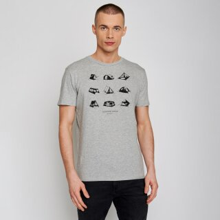 Herren T-Shirt Nature Outdoor Freak heather grey