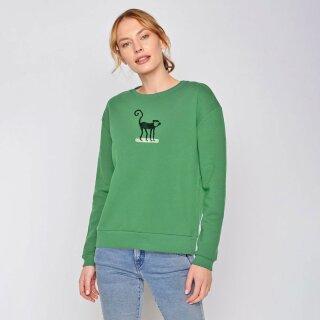 Damen Sweatshirt Animal Ape pine green