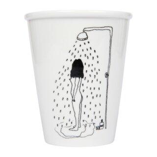 Keramik-Becher - Shower girl