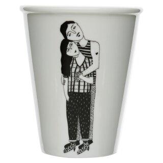 Keramik-Becher - Hugging