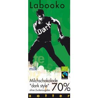 Labooko 70% Milchschokolade Dark Style