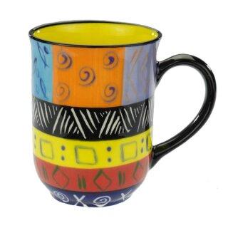 Keramik-Becher bunt, 350 ml