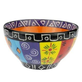Keramik-Schale bunt, Ø 12 cm