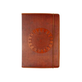 Notizbuch Leder 14 x 19, braun