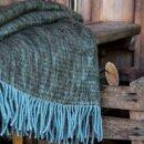 Mohair-Decke Laia, kakigrün