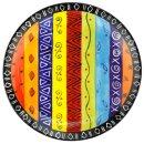 Keramik-Speiseteller bunt, Ø 26 cm