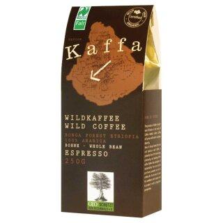 Kaffa Bio-Wildkaffee Espresso, Bohne