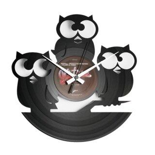 Wanduhr - Three Owls