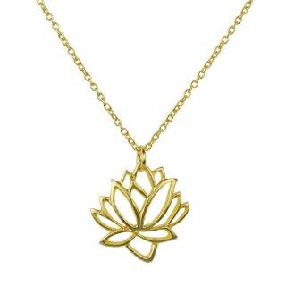 Silber-Halskette Lotus, vergoldet