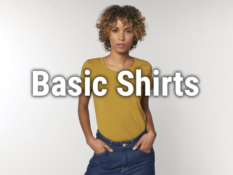 Bio-faire Basic Shirts für Damen