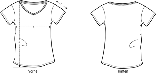 Groessentabelle Langarm-Shirt Damen