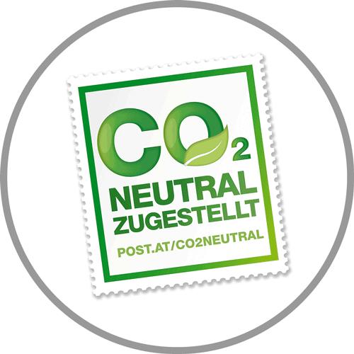 Logo CO2-neutral zugestellt durch die Österreichische Post
